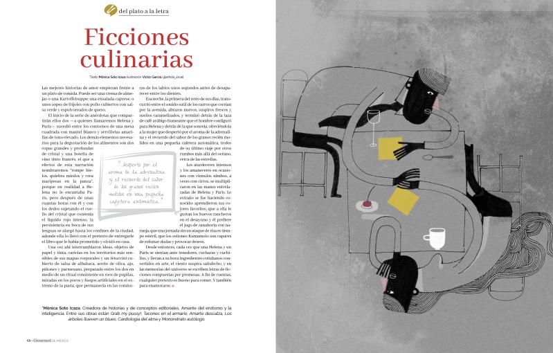 Mónica Soto Icaza en revista El Gourmet de Noviembre 2017