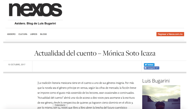 Entrevista de Luis Bugarini a Mónica Soto Icaza